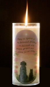 Pet Loss Memorial Candle